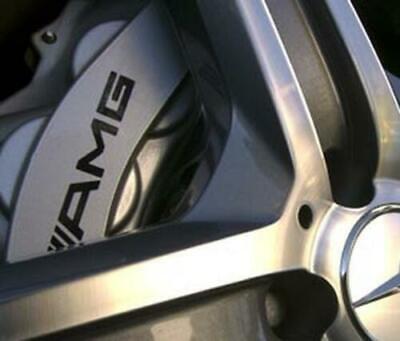 6x AMG Bremssattel Aufkleber Sticker schwarz Mercedes Benz C63 A45 CLA45 C43 A35