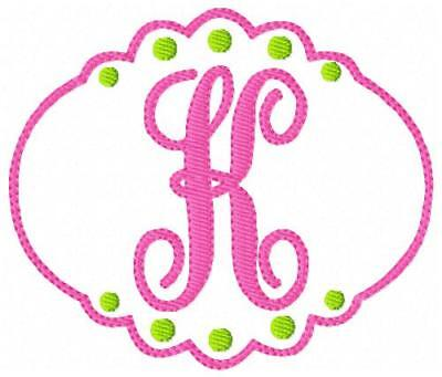 Machine Embroidery Stitches - Just Girly Machine Embroidery Designs Monogram Font Designs CD Joyful Stitches