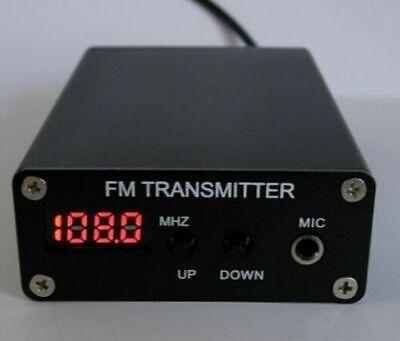 1mw 87-109mhz Mini Stereo Pll Fm Mp3 Transmitter Radio Stationpower Supply Ant
