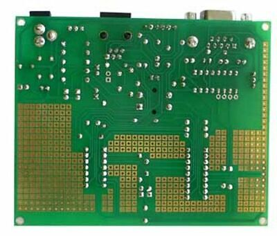 Microchip Pic Prototype Board W Rs232 And Icsp 14- 18-pin Dip