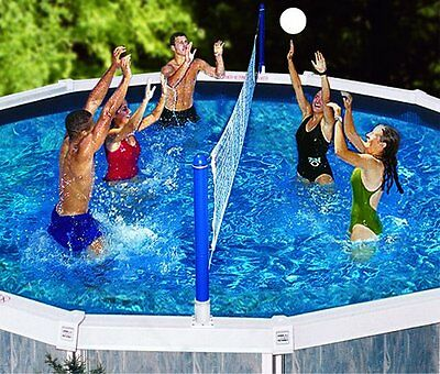 New Swimline 9187 Above Ground Cross Swimming Pool Volleyball Game Net