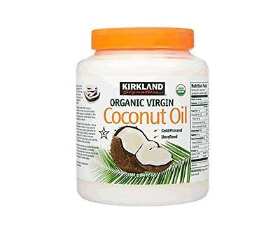1 Kirkland Organic Virgin Coconut Oil Unrefined Cold Pressed Chemical Free 84oz