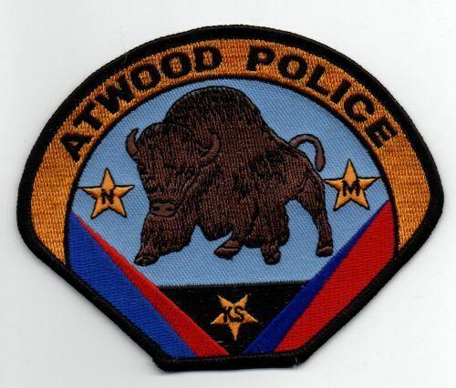 KANSAS KS ATWOOD POLICE NICE PATCH SHERIFF