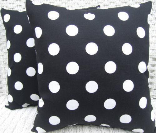 Black And White Polka Dot Pillows Ebay