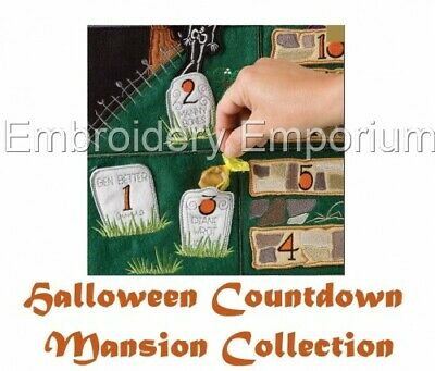 MANSION COLLECTION - MACHINE EMBROIDERY DESIGNS ON CD OR USB (Halloween Mansion)