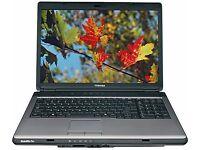 TOSHIBA L300 / INTEL Dual Core 1.87 GHz/ 2 GB Ram/ 160GB HDD/ WIN 7 - FREE DELIVERY