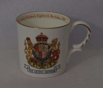 The Queen Mother's 80th Birthday Commemorative Mug - Aynsley