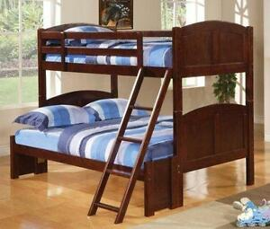 LORD SELKIRK FURNITURE - Tomboy Twin / Double Bunk Bed in Espresso with 12 Slats per Bunk - $299.00