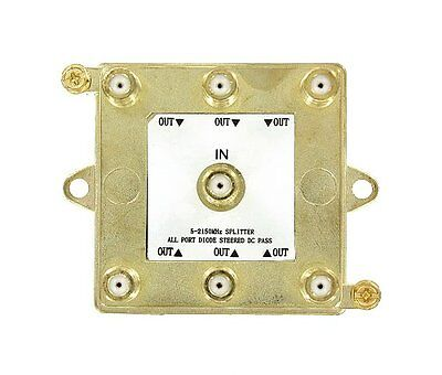 Leviton 47690-G6 1 x 6 5-2150MHz Passive Video 6-Way Splitter for digital cable Leviton Video Splitter