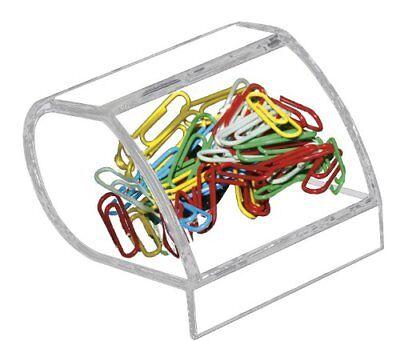 Kantek Acrylic Paperclip Holder - 1 Each - Clear (AD40)