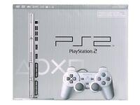 PS2 Satin Silver Console