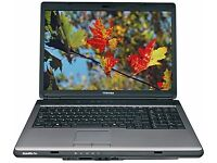 TOSHIBA L300 / INTEL Dual Core 1.87 GHz/ 2 GB Ram/ 160GB HDD/ WIN 7 - FREE DELIVERY