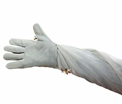 One Pair White Anti-bee Gloves Thick Sheepskin Beekeeping Equipment 50cm