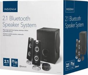 Insignia- 2.1 Bluetooth Speaker System (3-Piece) - Black Model