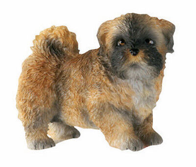 LHASA APSO PUPPY DOG FIGURINE. LIFELIKE CUTE LITTLE PUP FIGURE STATUE