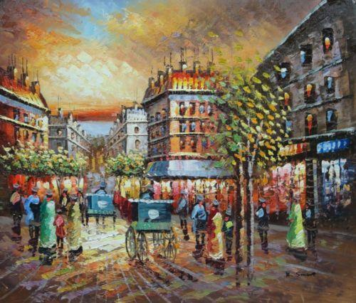 Paris Scene Cafe Painter