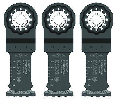 Bosch Osl114f-3 Starlock Bi-metal Plunge Cut Blade 3 Pack 1-14