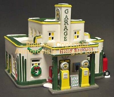 Snow Village Dept 56 Holly Brothers Garage  54854 New  Mint  Fabulous