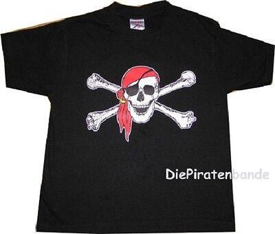 Piratenshirt Kinder u. Erwachsene viele Größen neu T-Shirt Piraten Skull Pirat