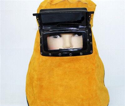 New Leather Hood Welding Helmet Mask Solar Auto Darkening Filter Lens Welder