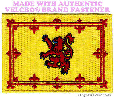 SCOTTISH FLAG PATCH SCOTLAND EMBROIDERED LION RAMPANT w/ VEL