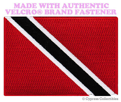 KITTS NEVIS FLAG PATCH CARIBBEAN EMBROIDERED new w// VELCRO® Brand Fastener ST