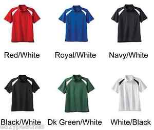 Mens-NEW-Size-2XL-6XL-Colorblock-Dri-Wicking-Fit-UPF-50-Golf-Polo-Sport-Shirts