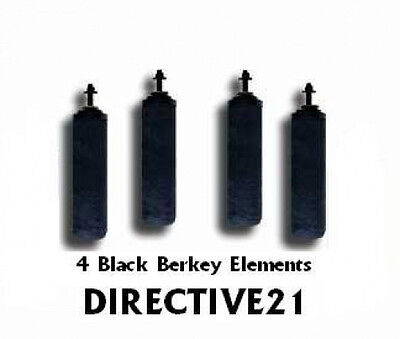 4 Big Berkey Dark Berkey Purification filters & 4 PF2