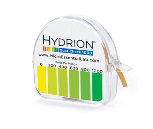 *QC-1001 Hydrion Quaternary QUAT Ammonium Sanitizer Test Tape Roll Paper 0-1000