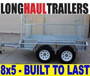8x5 Tandem 2000KG Double Axle - Hot Dipped Galvanised Box Trailer Sumner Brisbane South West Preview