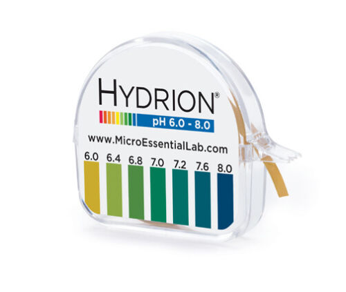 345 MPN 6-8 Hydrion pH Paper Tape Roll 6.0-8.0 Testing RANGE Neutral Solutions