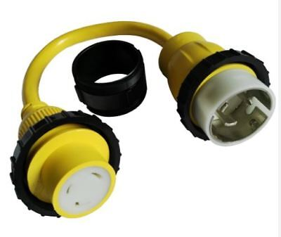 125v Marine (AMP UP Marine Cable Adapter 125V 30 Amp Female x 125/250V 50 Amp Male Pigtail)