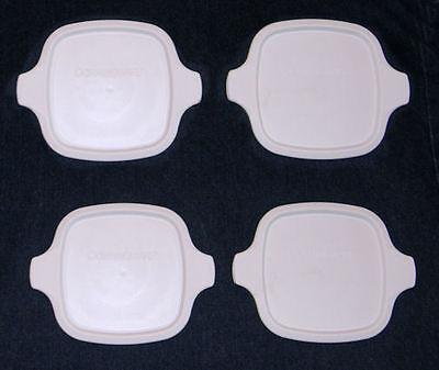 4 NEW Replacement Corning Ware Petite Lids fit P-41 P-41-B P-43 P-43B Plastic MC