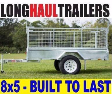 8x5 Box Trailer LHT 100% Galvanised 600mm Cage BUILT TOUGH