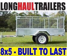 8x5 Hot Dip GAL WELDED Box TRAILER ★CAGE ★TIPPER ★LED Darra Brisbane South West Preview