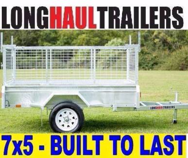 PREMIUM  7x5 Box Trailer 600mm Cage Fully Welded - BUILT TOUGH