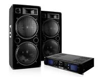 1500w Speakers and 2000w amplifier.