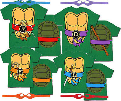 TMNT Teenage Mutant Ninja Turtles Costume T-Shirt Tee (Ninja Turtle Costume Shirt)