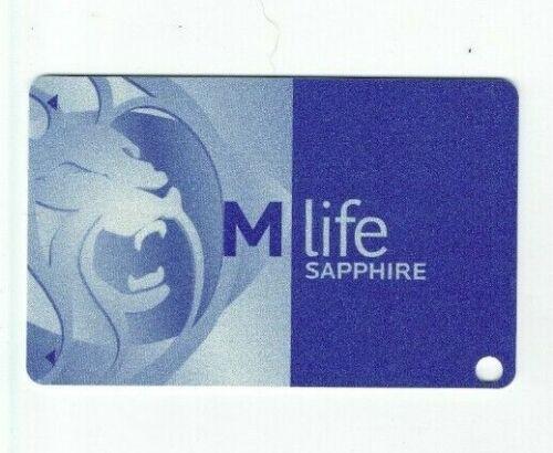 MGM M Life Casino Slot Card / Players Club Card - Sapphire Level - Blank /Unused
