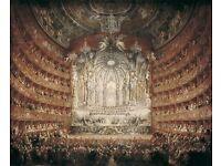 Concert given by Cardinal de La Rochefoucauld at the Argentina Theatre