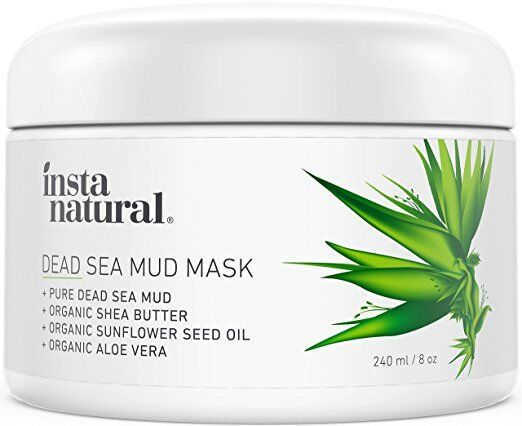 InstaNatural Dead Sea Mud Mask - Reduce Facial Pores - Organ