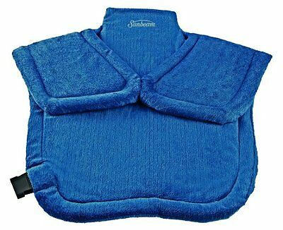 Electric Heating Pad Back Neck Shoulder Pain Relief Back Relaxing Therapy Blue