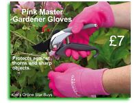 Pink Master Gardener Gloves (thorn protection)