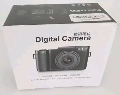 Digital Camera Vlog Full HD 1080p Point And Shoot Flip Screen Flash Light 24 MP