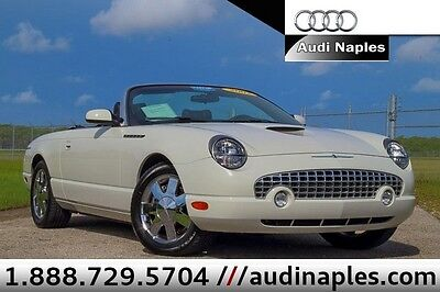 02 T-BIRD CONVERTIBLE, VERY LOW MILES! CLEAN! FREE SHIPPING!
