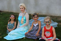 Princess Elsa visit and face painting for a Birthday Party