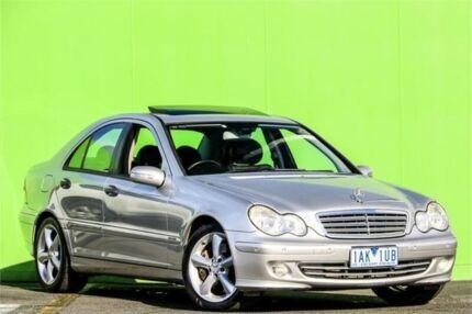 2005 Mercedes-Benz C200 Kompressor W203 MY2005 Elegance Silver 5 Speed Sports Automatic Sedan Ringwood East Maroondah Area Preview