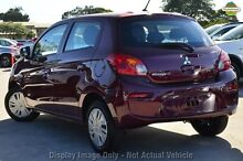 2016 Mitsubishi Mirage LA MY16 ES Wine Red Continuous Variable Hatchback Wilson Canning Area Preview