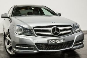 2012 Mercedes-Benz C250 C204 BlueEFFICIENCY 7G-Tronic + Grey 7 Speed Sports Automatic Coupe Rozelle Leichhardt Area Preview