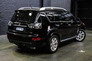 2009 Mitsubishi Outlander ZG MY09 VR-X Luxury Black 6 Speed Sports Automatic Wagon